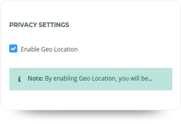 Disabling Geolocation