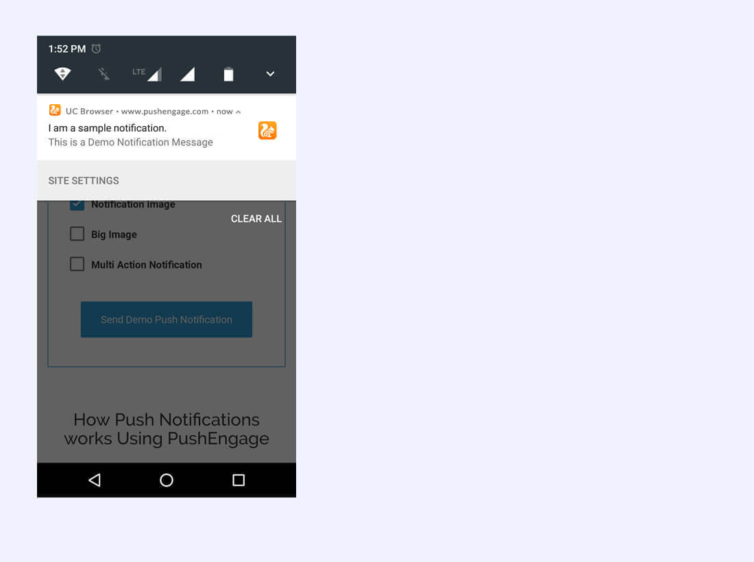 Notification being displayed in Edge. Screenshot/Illustration