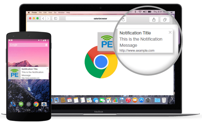 Send Chrome push notifications using PushEngage